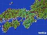 2015年10月06日の近畿地方のアメダス(日照時間)