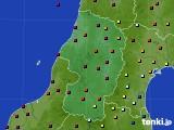 2015年10月06日の山形県のアメダス(日照時間)