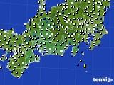 東海地方のアメダス実況(風向・風速)(2015年10月06日)