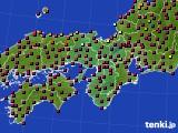 2015年10月07日の近畿地方のアメダス(日照時間)
