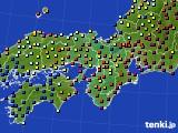 2015年10月08日の近畿地方のアメダス(日照時間)