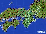 近畿地方のアメダス実況(日照時間)(2015年10月09日)