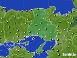 2015年10月09日の兵庫県のアメダス(気温)