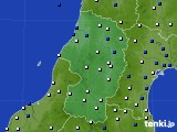 2015年10月09日の山形県のアメダス(風向・風速)