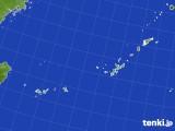 2015年10月10日の沖縄地方のアメダス(積雪深)