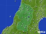 2015年10月10日の山形県のアメダス(風向・風速)