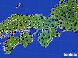 2015年10月11日の近畿地方のアメダス(日照時間)