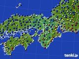 2015年10月12日の近畿地方のアメダス(日照時間)
