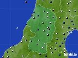 2015年10月13日の山形県のアメダス(風向・風速)