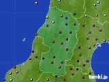2015年10月14日の山形県のアメダス(日照時間)