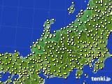 北陸地方のアメダス実況(気温)(2015年10月14日)