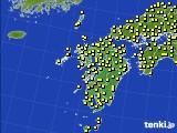 九州地方のアメダス実況(気温)(2015年10月14日)