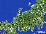 北陸地方のアメダス実況(風向・風速)(2015年10月14日)