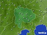 山梨県のアメダス実況(風向・風速)(2015年10月14日)