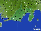 静岡県のアメダス実況(風向・風速)(2015年10月14日)