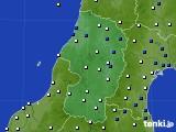 2015年10月14日の山形県のアメダス(風向・風速)