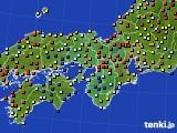2015年10月15日の近畿地方のアメダス(日照時間)