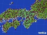 近畿地方のアメダス実況(日照時間)(2015年10月16日)
