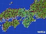 近畿地方のアメダス実況(日照時間)(2015年10月17日)