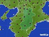 2015年10月19日の奈良県のアメダス(日照時間)