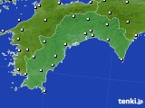 高知県のアメダス実況(風向・風速)(2015年10月19日)