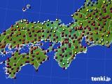 2015年10月20日の近畿地方のアメダス(日照時間)
