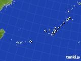 2015年10月22日の沖縄地方のアメダス(降水量)