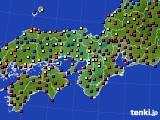 近畿地方のアメダス実況(日照時間)(2015年10月22日)