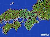 近畿地方のアメダス実況(日照時間)(2015年10月23日)