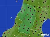 2015年10月23日の山形県のアメダス(日照時間)