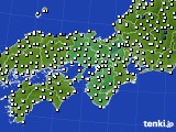 近畿地方のアメダス実況(風向・風速)(2015年10月23日)