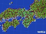 2015年10月24日の近畿地方のアメダス(日照時間)