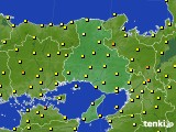 2015年10月24日の兵庫県のアメダス(気温)