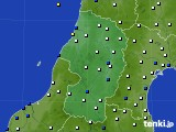 2015年10月24日の山形県のアメダス(風向・風速)
