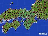 2015年10月25日の近畿地方のアメダス(日照時間)
