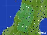 2015年10月25日の山形県のアメダス(風向・風速)