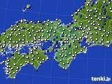 2015年10月27日の近畿地方のアメダス(風向・風速)