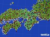2015年10月28日の近畿地方のアメダス(日照時間)