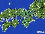 2015年10月28日の近畿地方のアメダス(風向・風速)