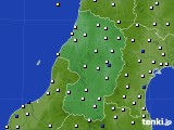 2015年10月29日の山形県のアメダス(風向・風速)