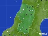 2015年10月30日の山形県のアメダス(降水量)