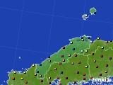 島根県のアメダス実況(日照時間)(2015年10月31日)