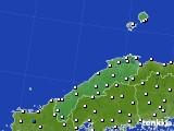 島根県のアメダス実況(風向・風速)(2015年10月31日)