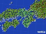 2015年11月01日の近畿地方のアメダス(日照時間)
