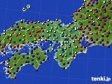 2015年11月06日の近畿地方のアメダス(日照時間)