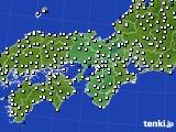 2015年11月08日の近畿地方のアメダス(風向・風速)