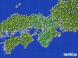 2015年11月09日の近畿地方のアメダス(風向・風速)