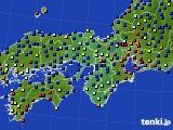 2015年11月10日の近畿地方のアメダス(日照時間)