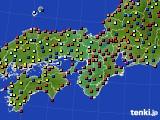 2015年11月11日の近畿地方のアメダス(日照時間)