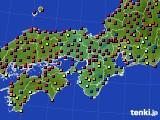 2015年11月12日の近畿地方のアメダス(日照時間)